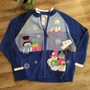 "NWT!! Royal Blue ""ugly"" ""tacky"" Christmas sweater"